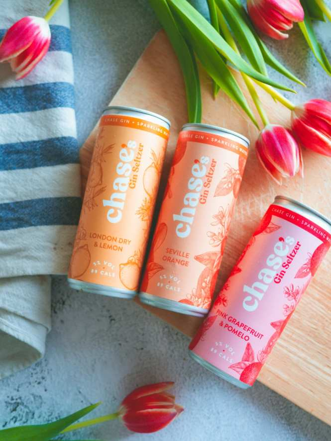 Chase gin seltzer cans