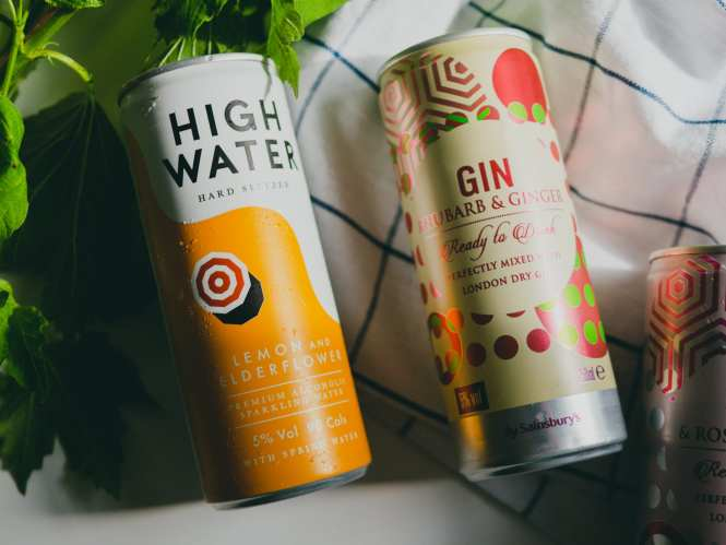 Ready-to-drink spirits in a can