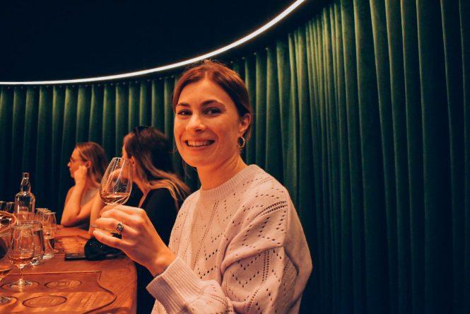 Inka Larissa at whisky tasting