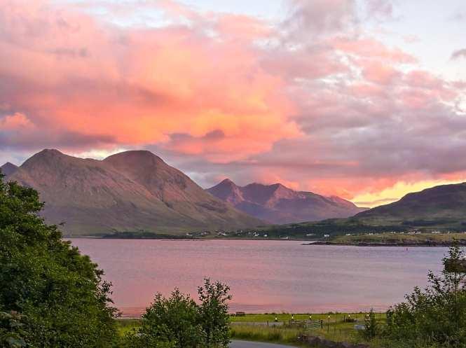 Sunset view of Isle of skye