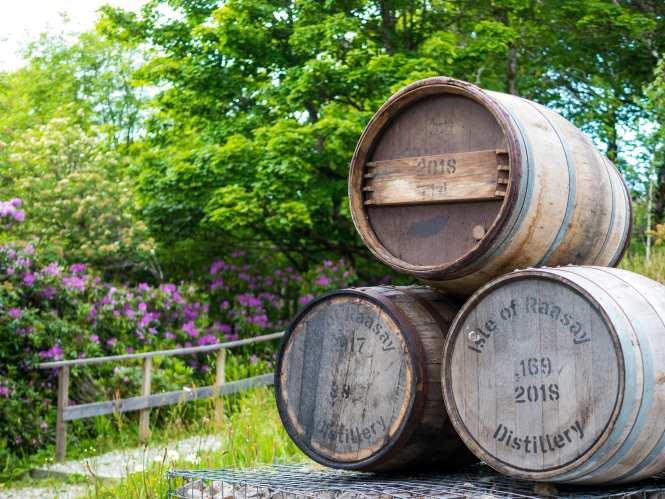 Raasay distillery casks
