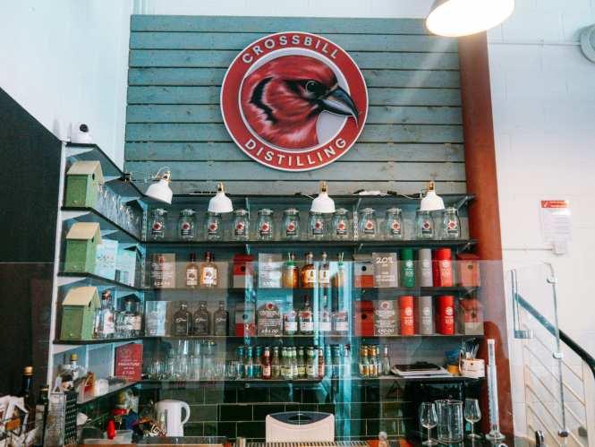 Crossbill Distillery bar