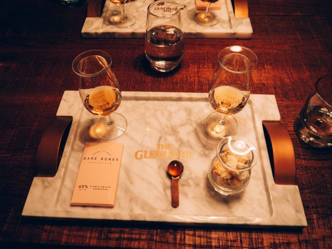 Whisky and chocolate and popcorn tasting