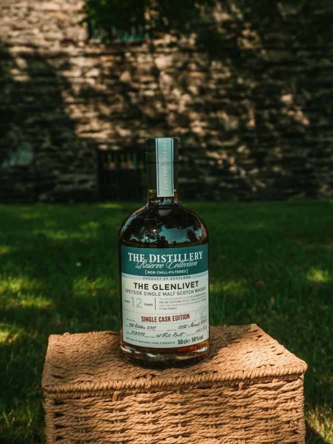 The Glenlivet whisky bottle