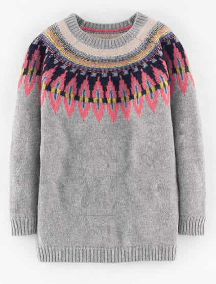 Fairisle sweater and a note on internet shopping