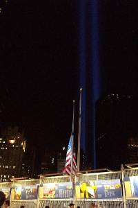 World Trade Center Tribute in Lights - 9/11/2005