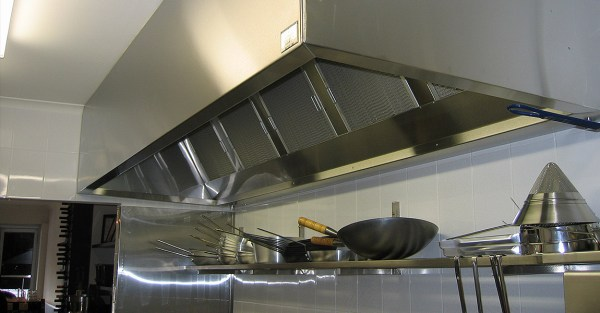 industrial kitchen hood in On The Spot Filter Clean Sunshine Coast