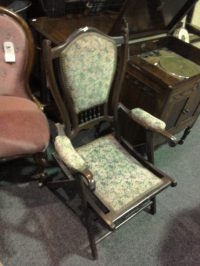Victorian Chair With Floral Fabric  On The Square