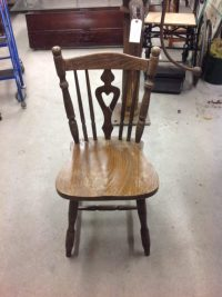 Heart back wooden spindle chairs  On The Square