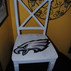 Philadelphia Eagles Chair Bulk Folding Chairs Its Sunday Have A Seat Upcycled Hand Painted Decoupage