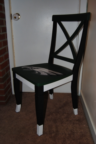 It's Sunday,  Have a Seat: Upcycled, Hand Painted Decoupage Football Lover's Chair (3/5)
