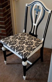 The Broken Chair Challenge: Upcycled Black and White ...