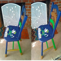 Notre Dame Chair Where Can I Rent Covers Near Me Fighting Irish Decoupage College Football On The