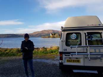 Parked up at Old Castle Lachlan