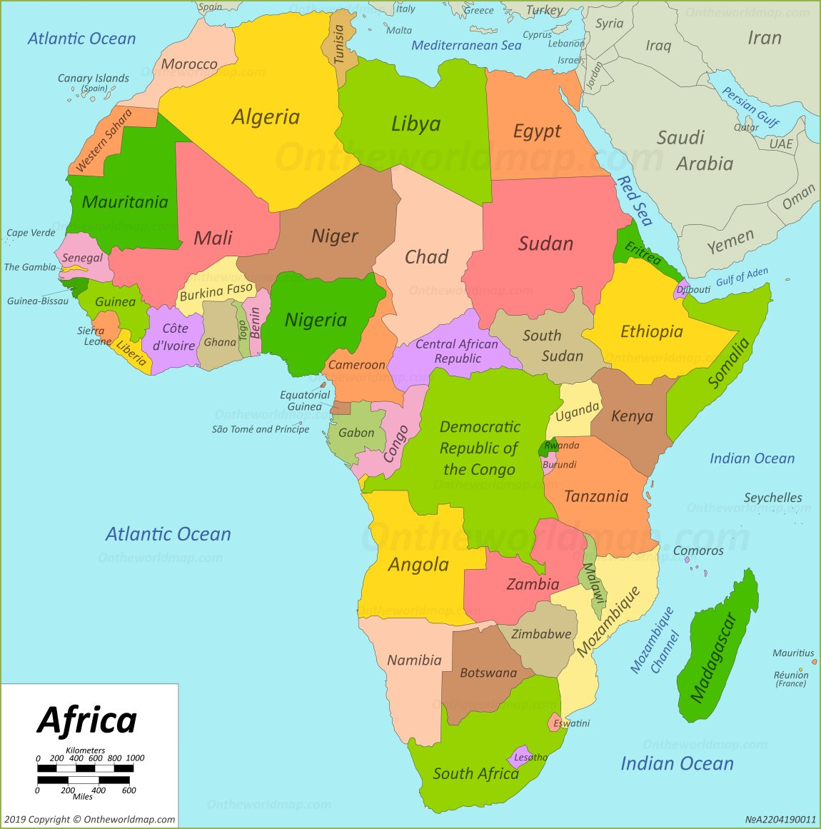 africa map maps of