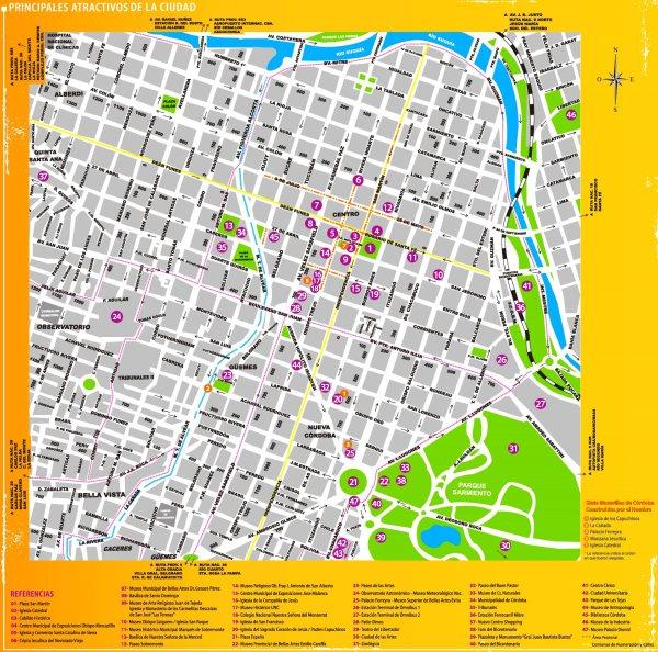 Córdoba Argentina tourist map