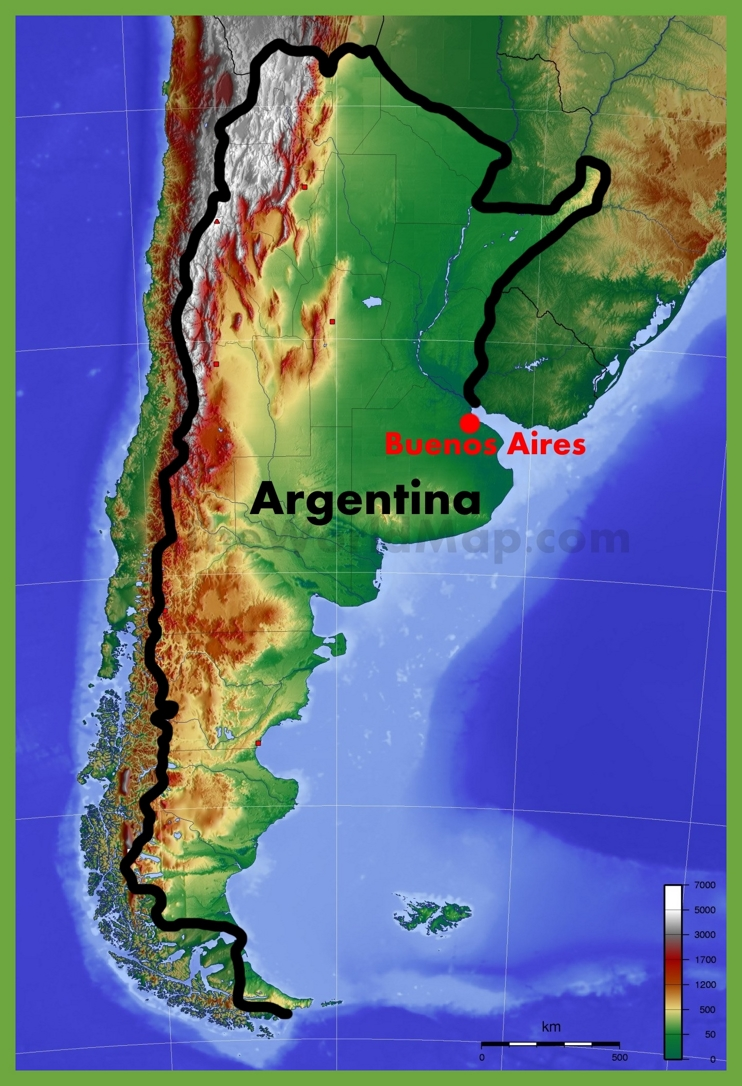Large Map Buenos Aires Argentina