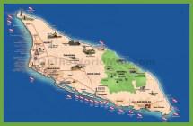 Aruba Tourist Map