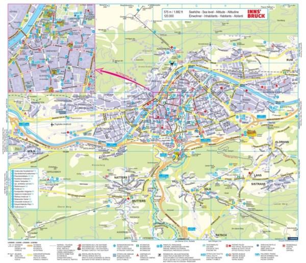 Innsbruck tourist map