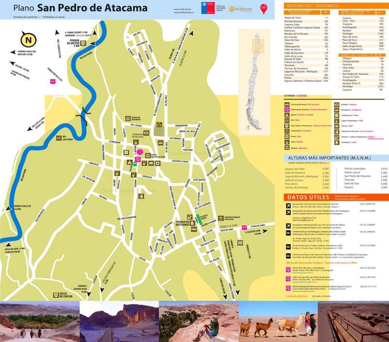 San Pedro de Atacama Tourist Map
