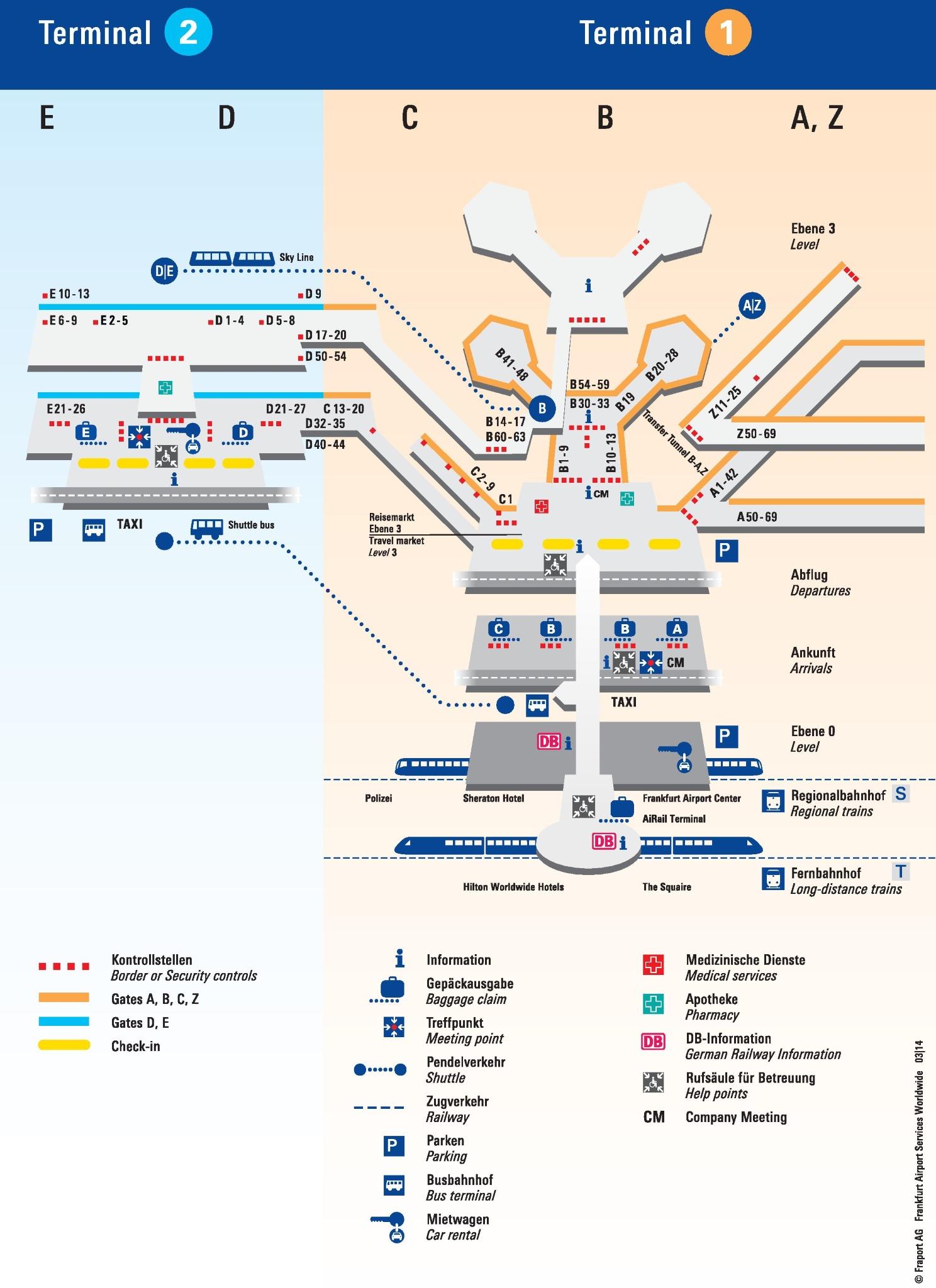 Frankfurt Airport Terminal Maps : frankfurt, airport, terminal, Frankfurt, Airport, Terminal