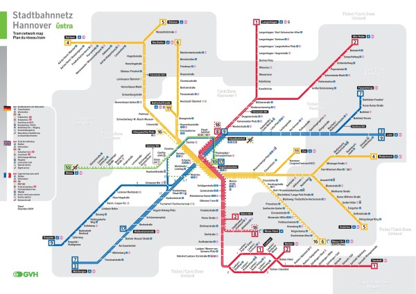 Hannover rail map