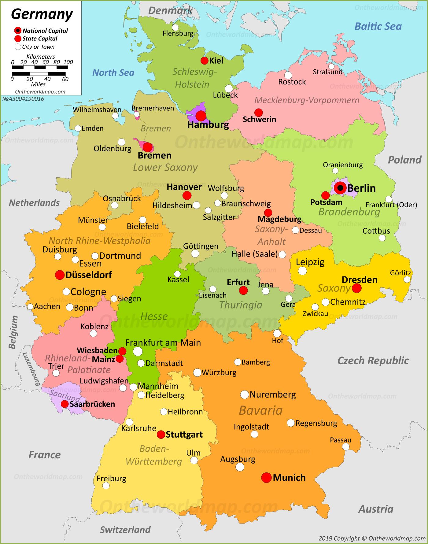 Maps Of Germany And Switzerland : germany, switzerland, Germany, Federal, Republic