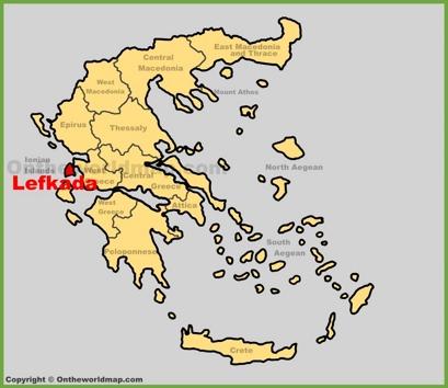 Lefkada Maps Greece Maps of Lefkada Island