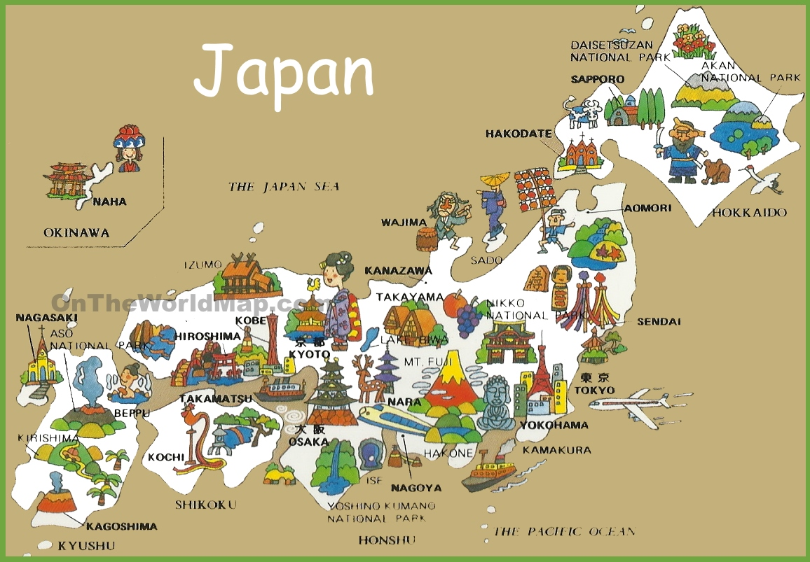 Pictorial Travel Map Of Japan
