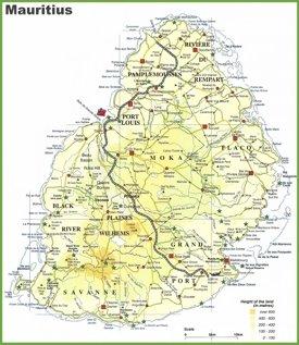 Mauritius Maps Maps of Mauritius