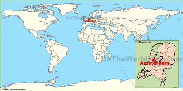 Amsterdam on the World Map