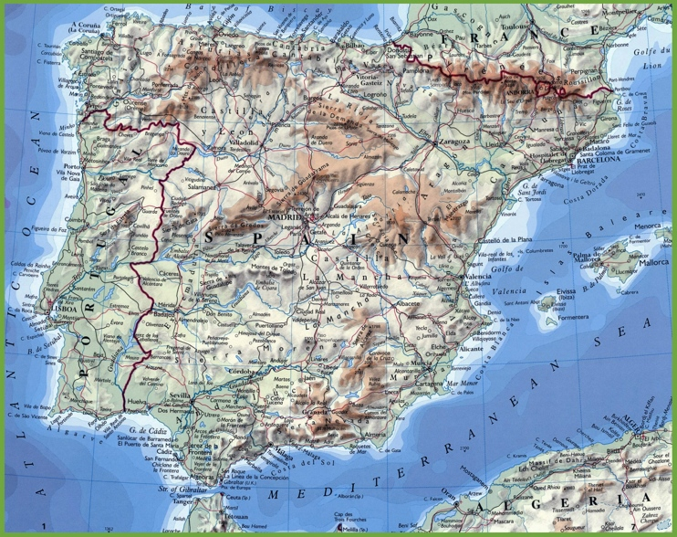 Map Of Spain Portugal And France.Map Rome France Spain Portugal