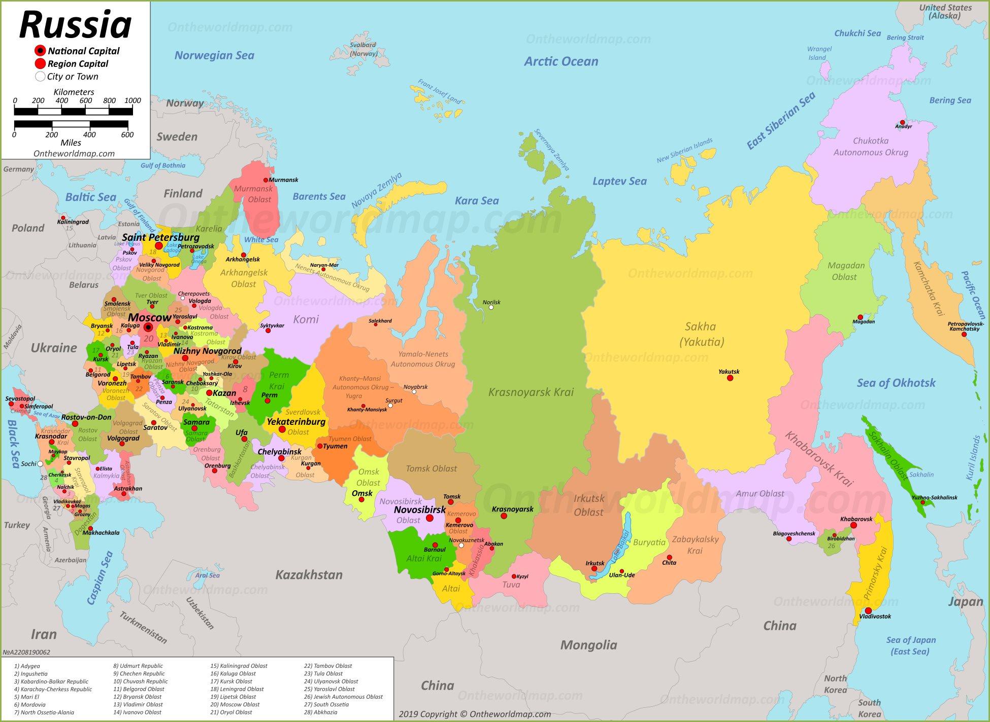 Russia Maps