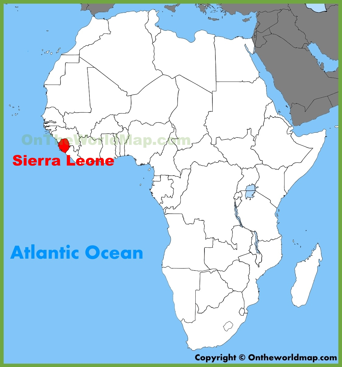 Sierra Leone Location On The Africa Map