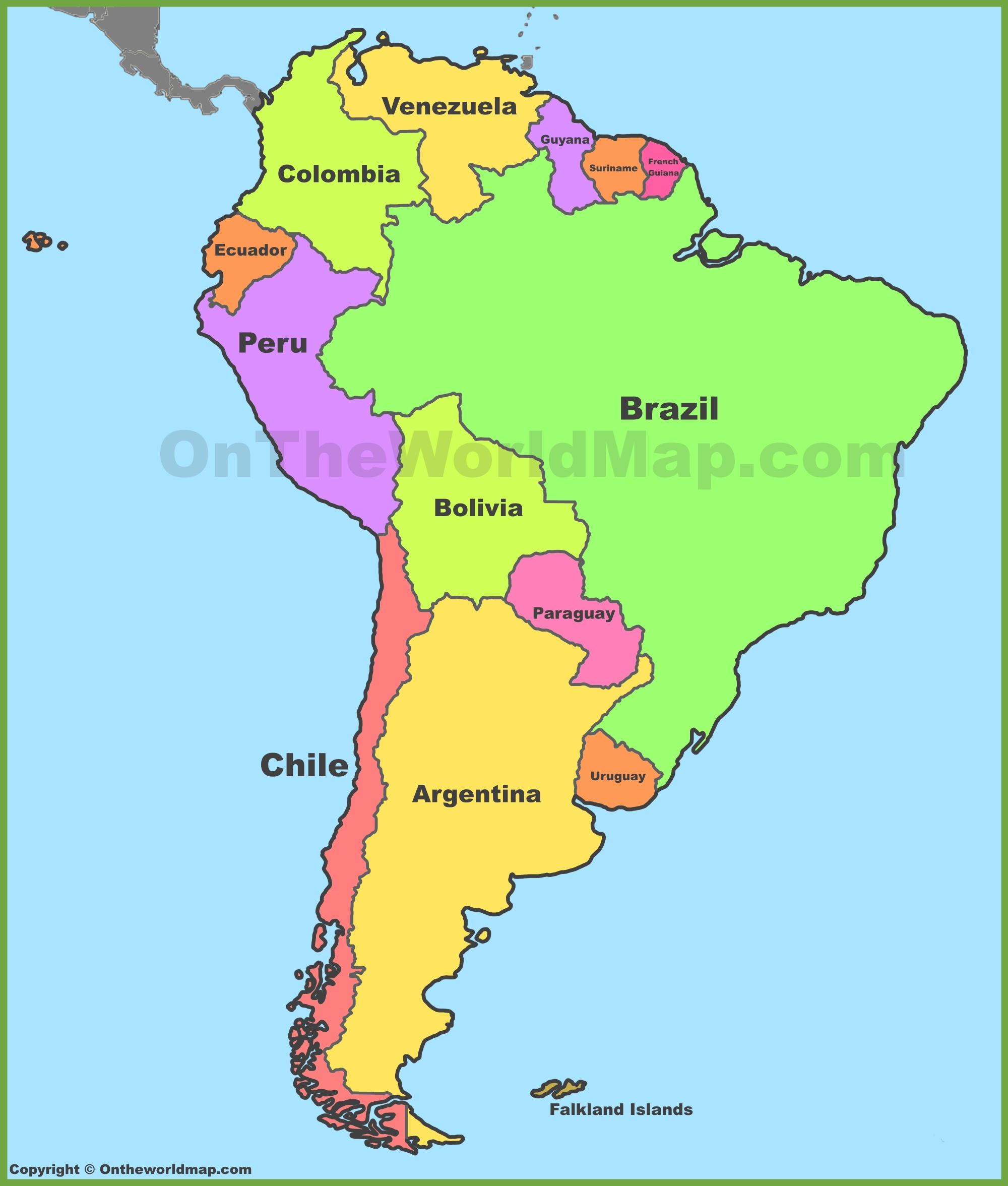 South America Maps Maps Of South America
