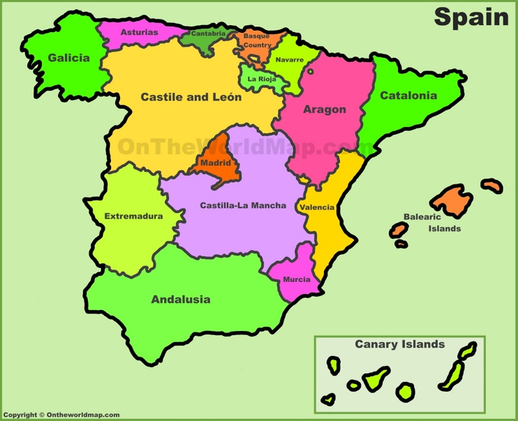 Resultado de imagen de mapa españa