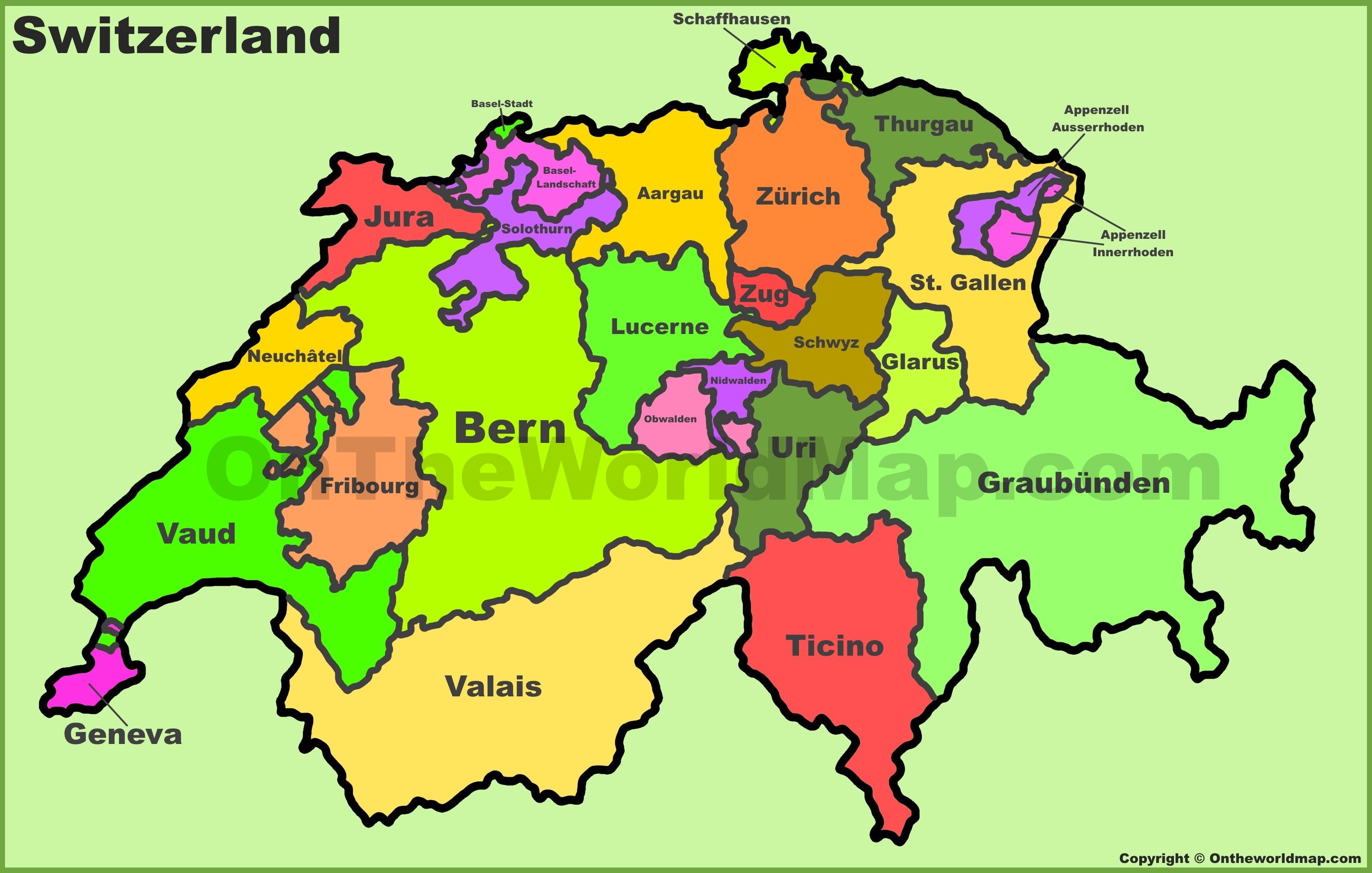 Image result for cantonal map of switzerland images