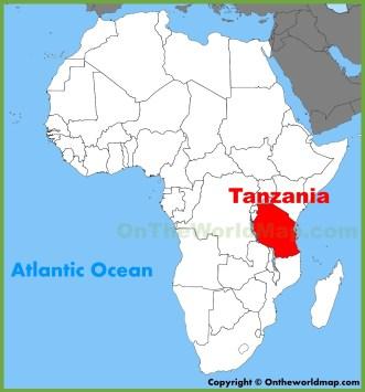 Αποτέλεσμα εικόνας για tanzania on a map