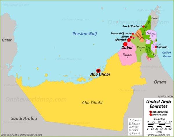 UAE Political Map