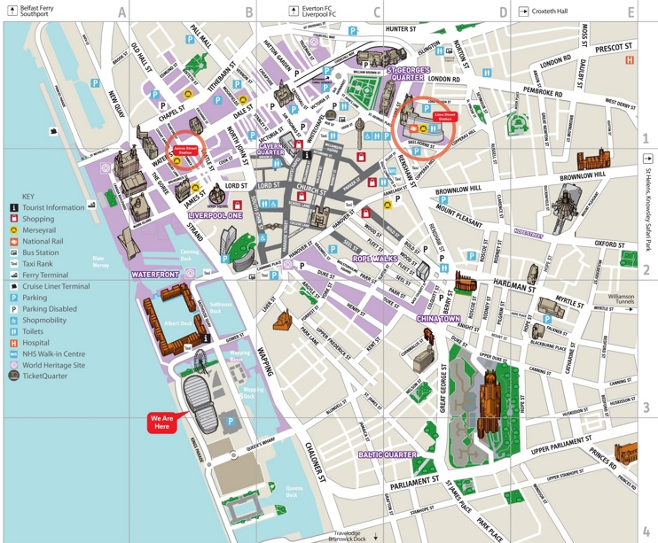 Liverpool city center map