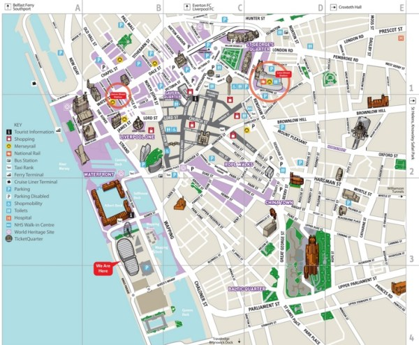 Liverpool city center map