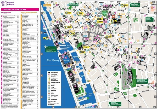 Liverpool hotel map