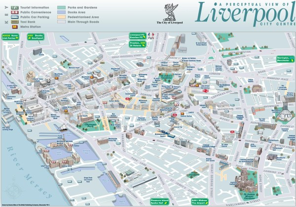 Liverpool sightseeing map