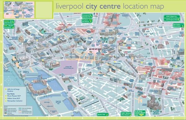 Liverpool tourist map