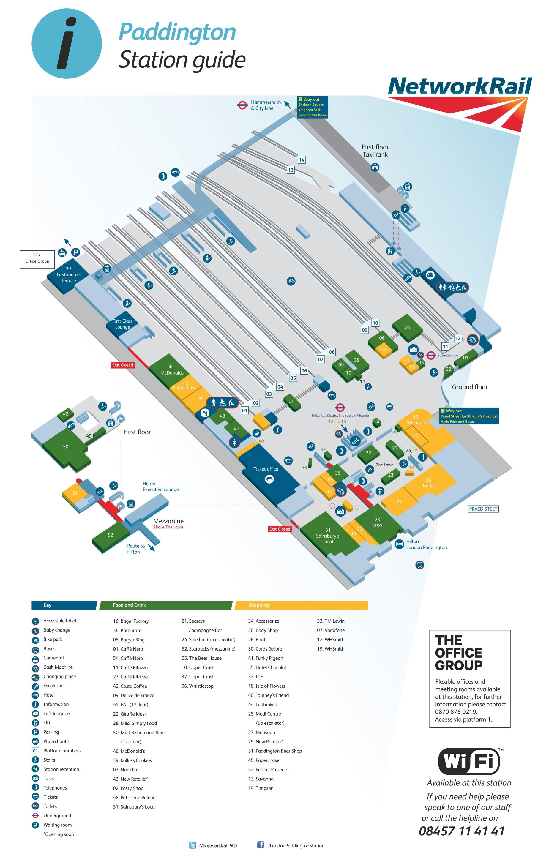 Paddington London Map