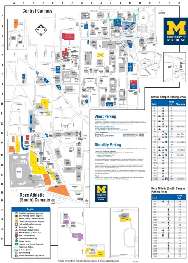 Ann Arbor University of Michigan campus map