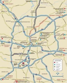 Atlanta Maps Georgia US Maps of Atlanta