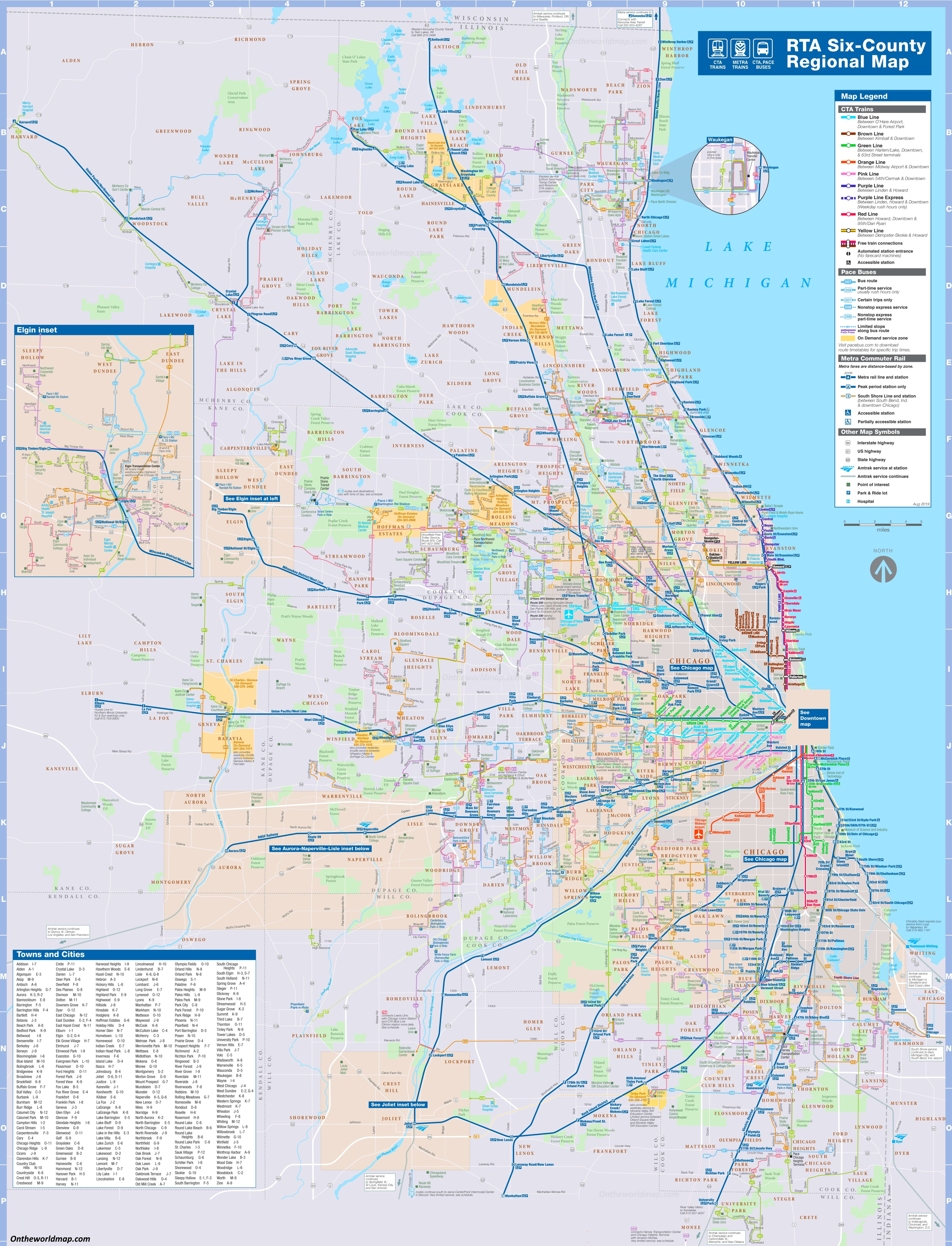 Map Transit City Jersey New New York
