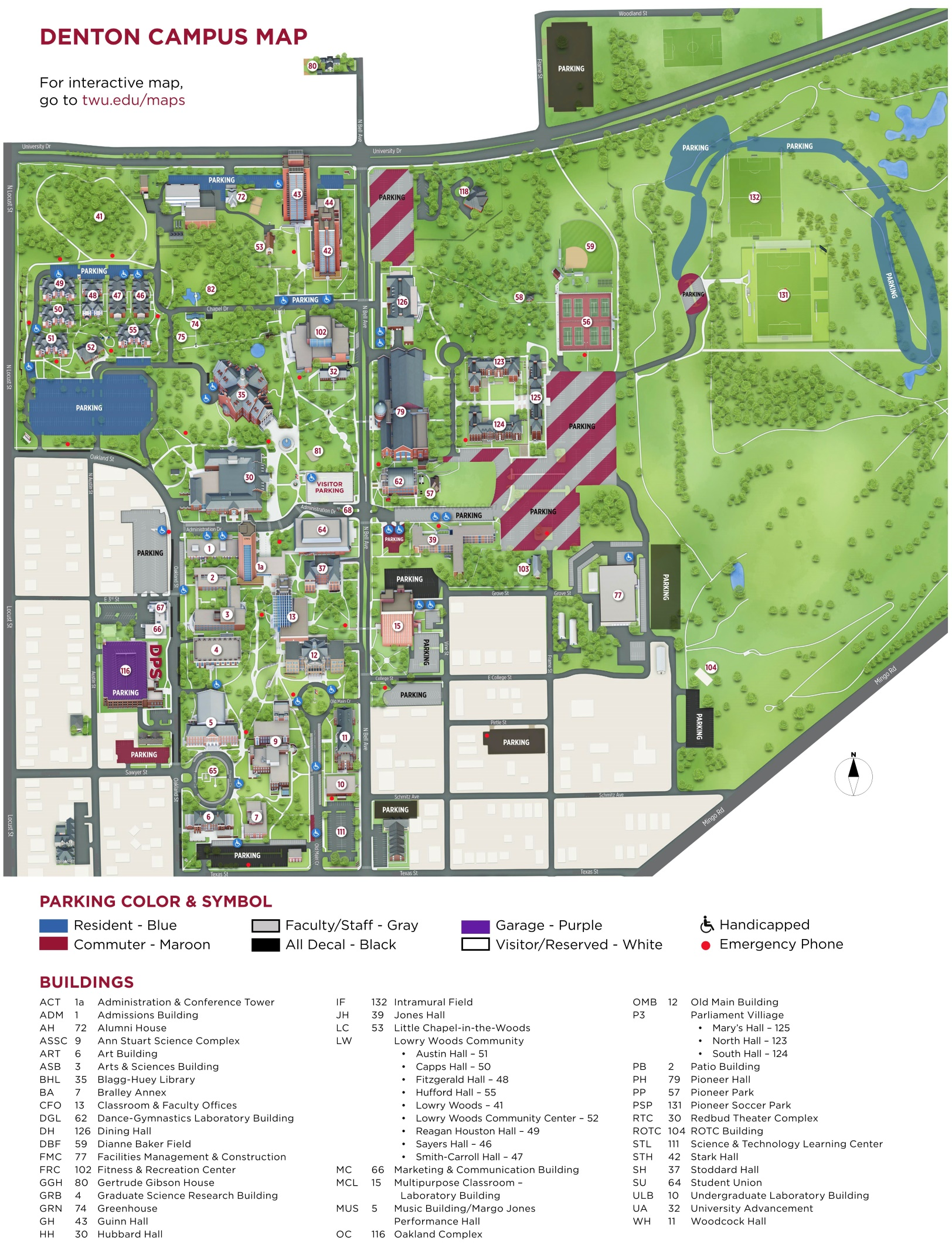 University Of Memphis Campus Map : university, memphis, campus, Texas, Woman's, University, Campus