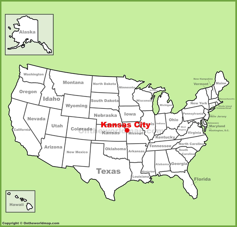Kansas City Location On The U S Map